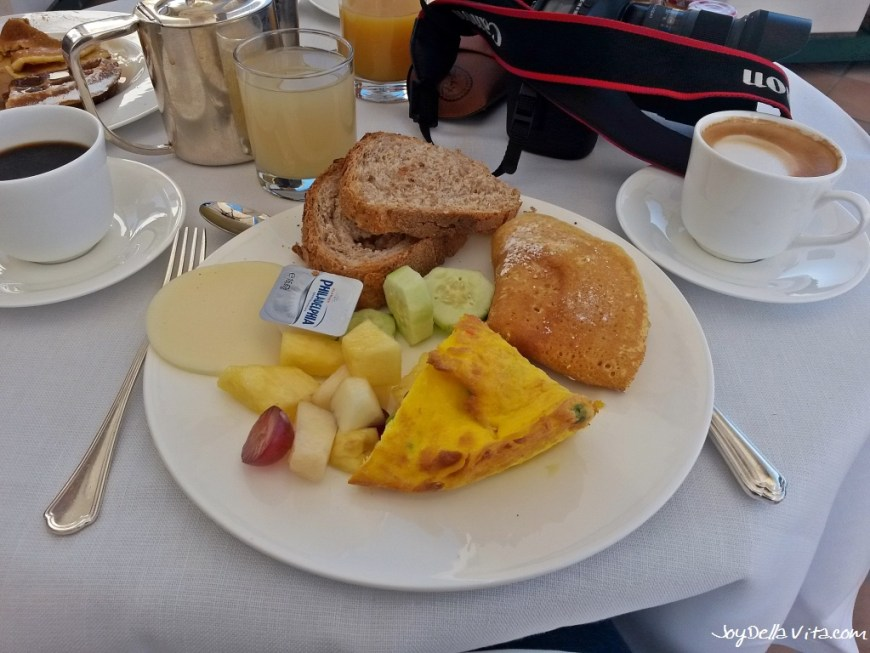 Breakfast at Marriott Grand Hotel Flora in Rome