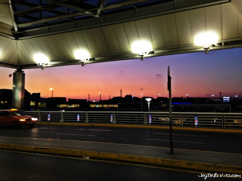 Waiting for the Payless Airport Shuttle Service from Atatürk Airport Istanbul to the City