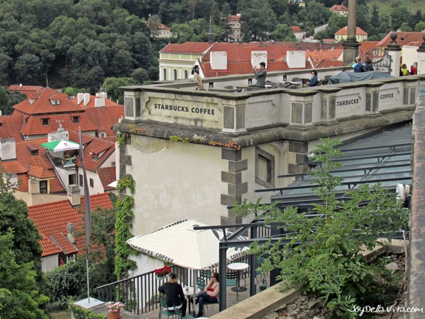 View from Starbucks at the Castle in Prague
