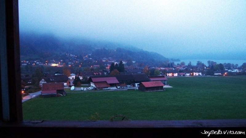 Aussicht auf den Großen Alpsee um 7 Uhr