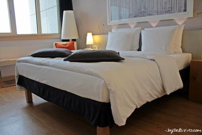 Double Bed at Radisson Blu Hamburg