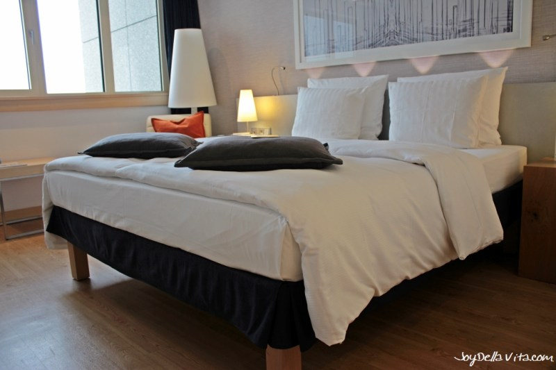 Double Bed at Radisson Blu Hamburg