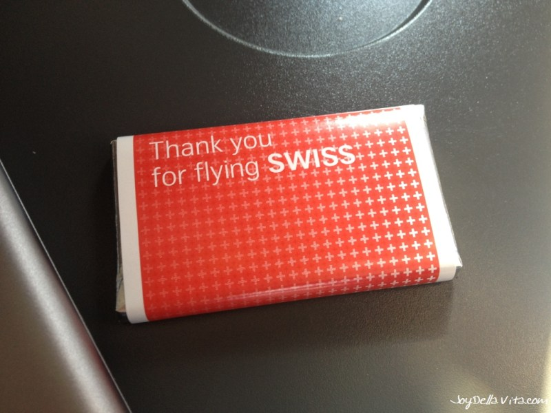 """Thank your for flying SWISS""-chocolate"