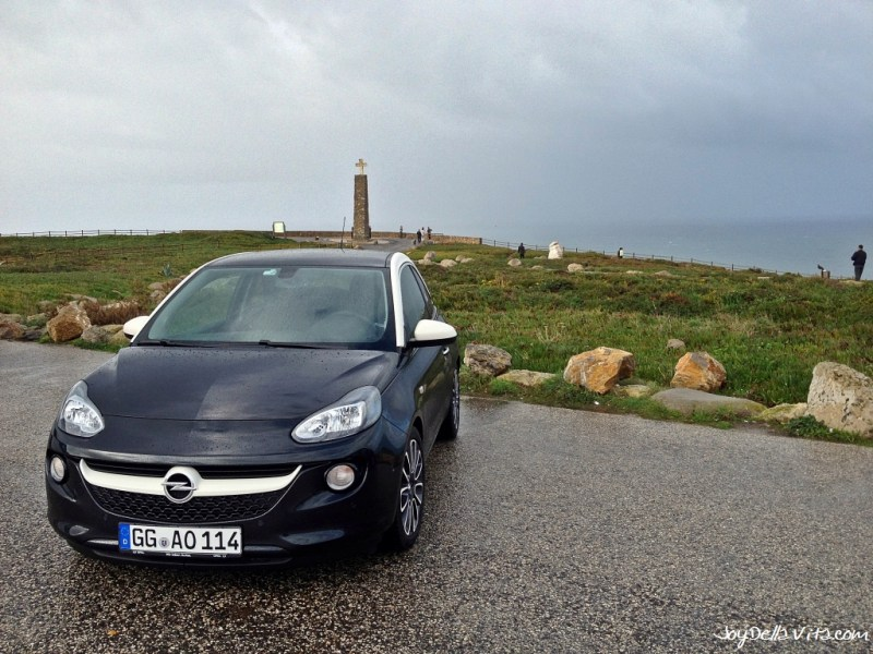 Opel ADAM at the Parking in front / at Cabo da Roca