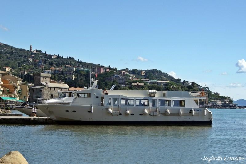 taking a boat to Portofino