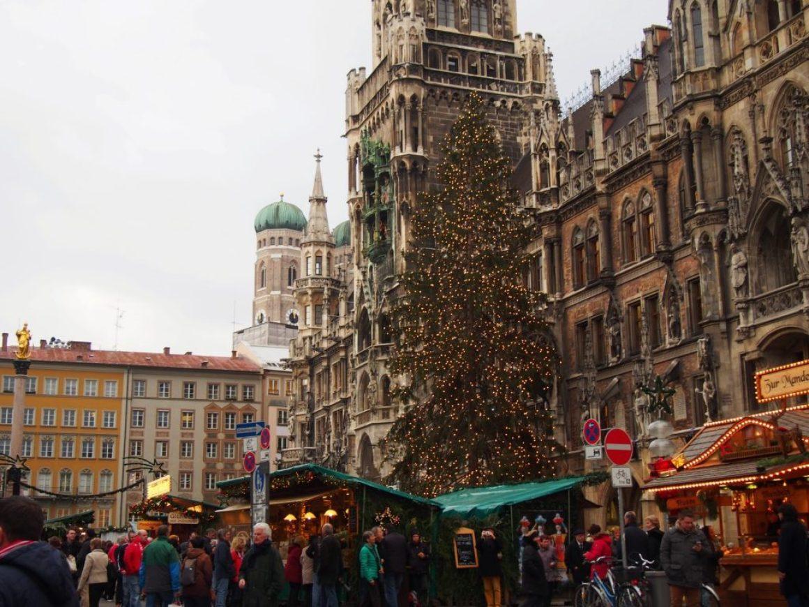 Christmas Market in Munich 2015 at Marienplatz