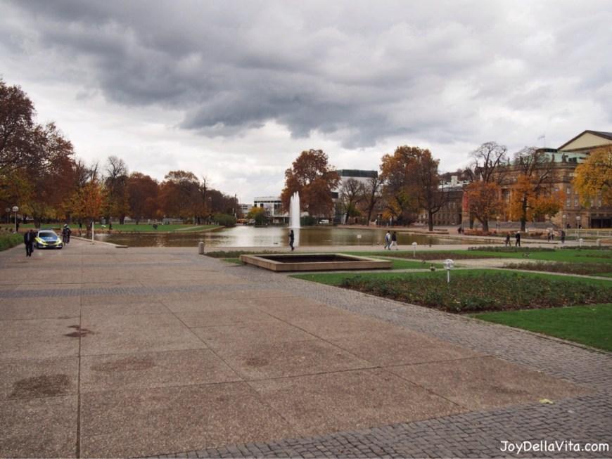 Oberer Schlossgarten and Eckensee in Stuttgart