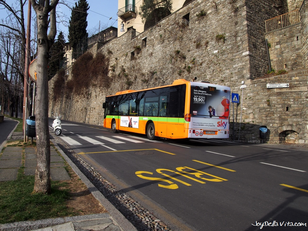 Driving the Bus for free with the Bergamo Card