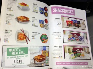 RyanAir On Board Menu 2016 (Food & Drinks)