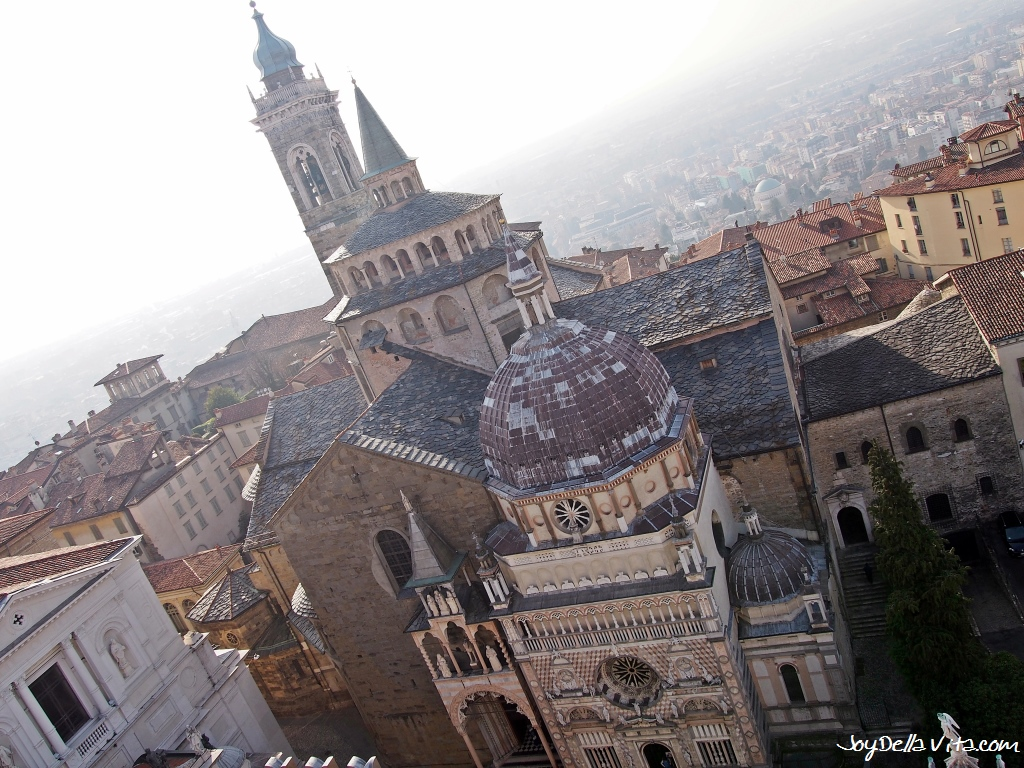 Basilica di Santa Maria Maggiore View from the Top of the Civic Tower Campanone Bergamo