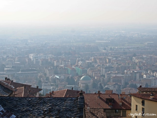 View on the lesser Town of Bergamo