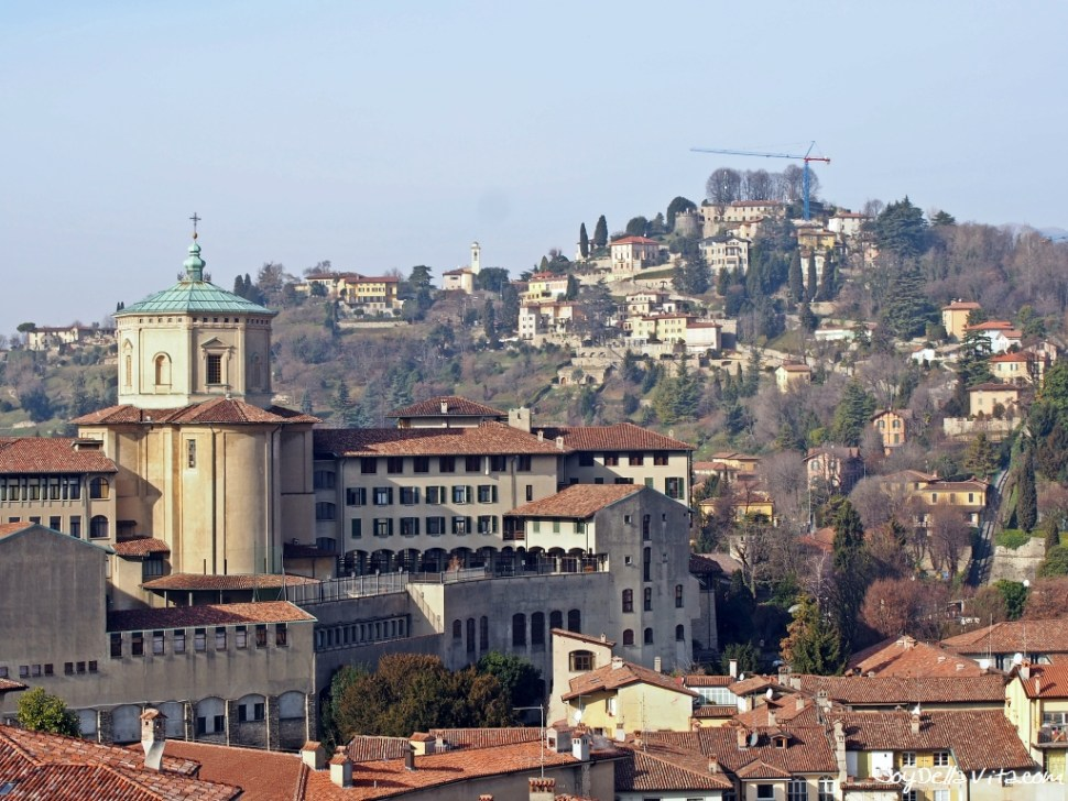 View from the Top of the Civic Tower Campanone Bergamo