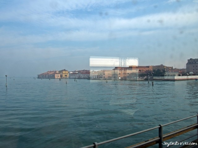 Venice, as seen from the Frecciabianca Train