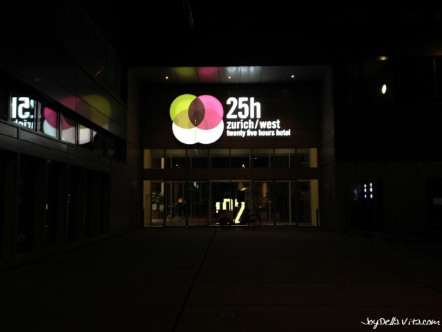 Entrance to 25hours Hotel Zurich West at Toni Areal Joy Della Vita Travelblog