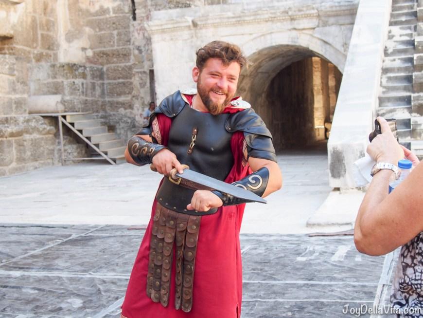 A Gladiator at the Roman Theatre in Aspendos