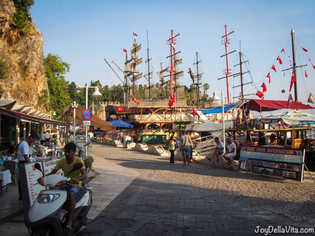 Old Harbor Antalya with the Sightseeing Boats