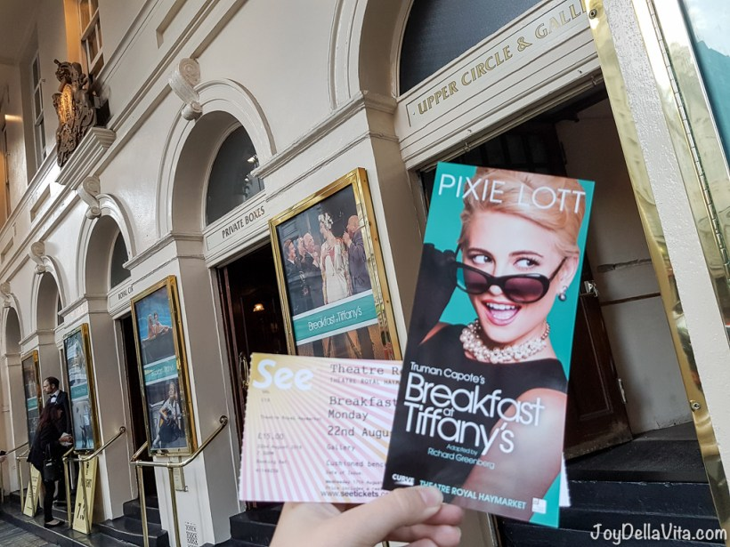 Breakfast at Tiffanys Pixie Lott Haymarket Theatre London JoyDellaVita