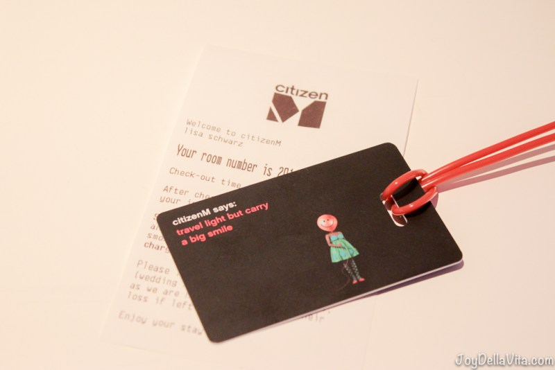 CitizenM Hotel Room Key