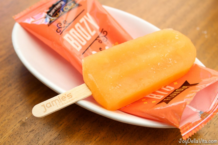 Aperol spritz ice lolly