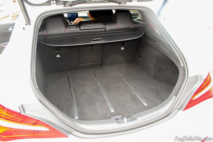 Mercedes-Benz CLA - enough luggage space for a roadtrip