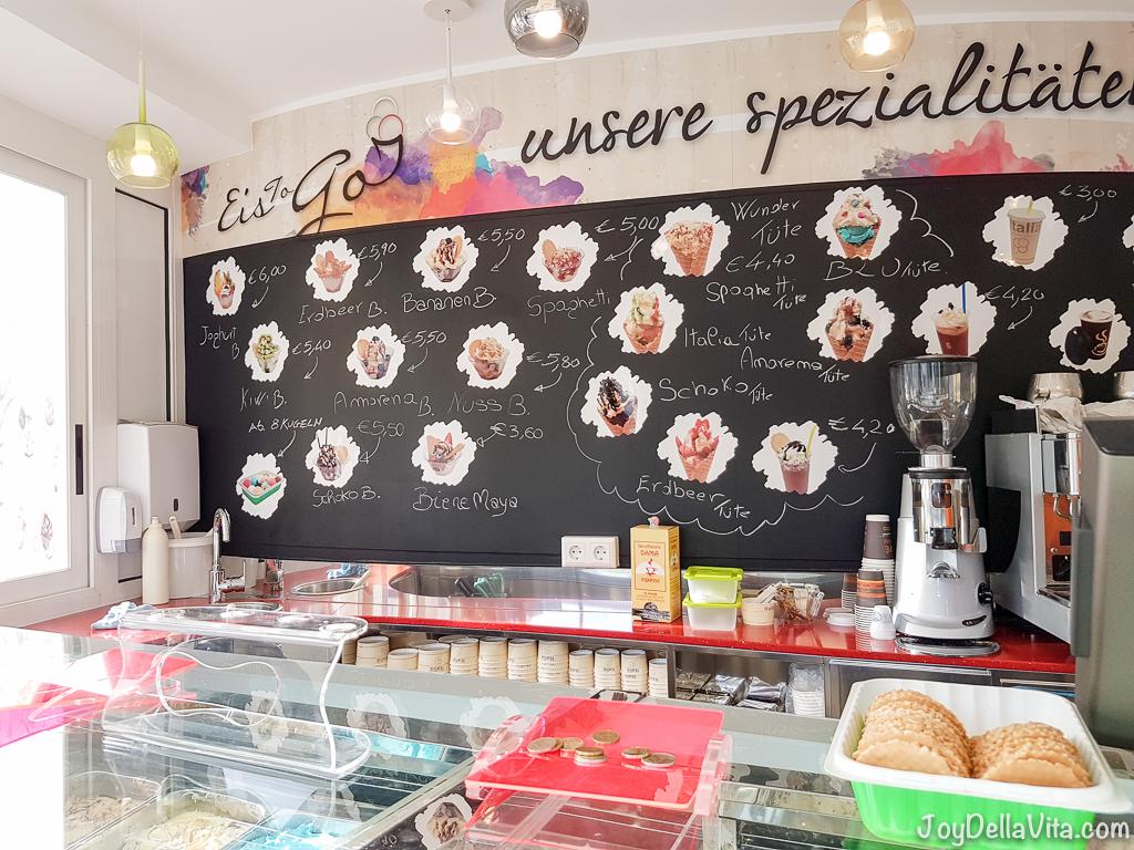 Italia Ice-Cream Kiosk Friedrichshafen Lake Constance Strawberry