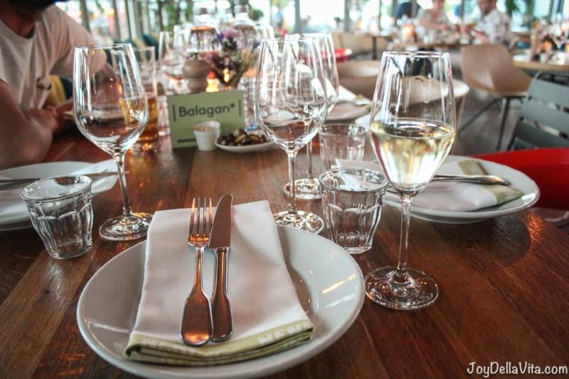 Dinner Table Setting at NENI 25hours Berlin