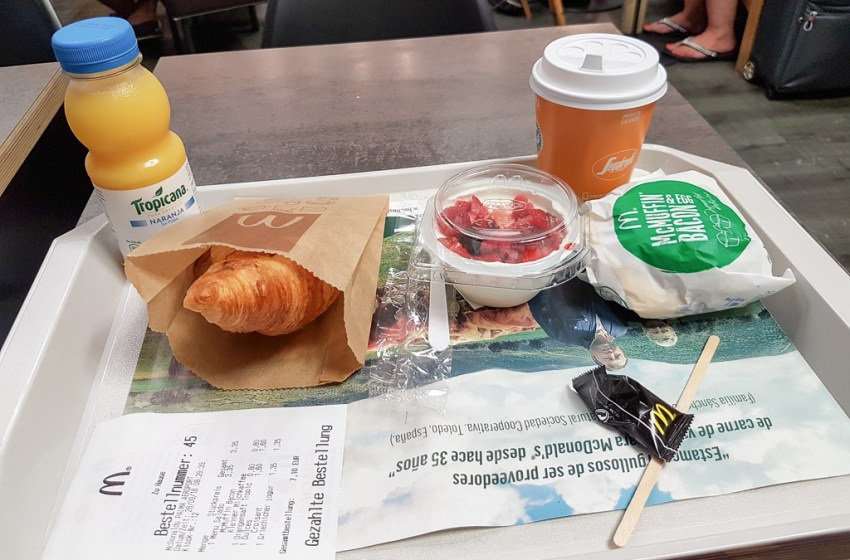 Breakfast at McDonald's Spain (Palma Airport)