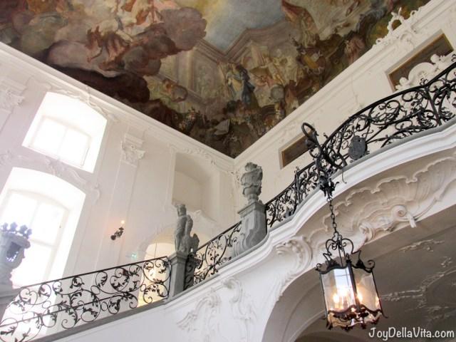 historical paintings inside the new castle meersburg