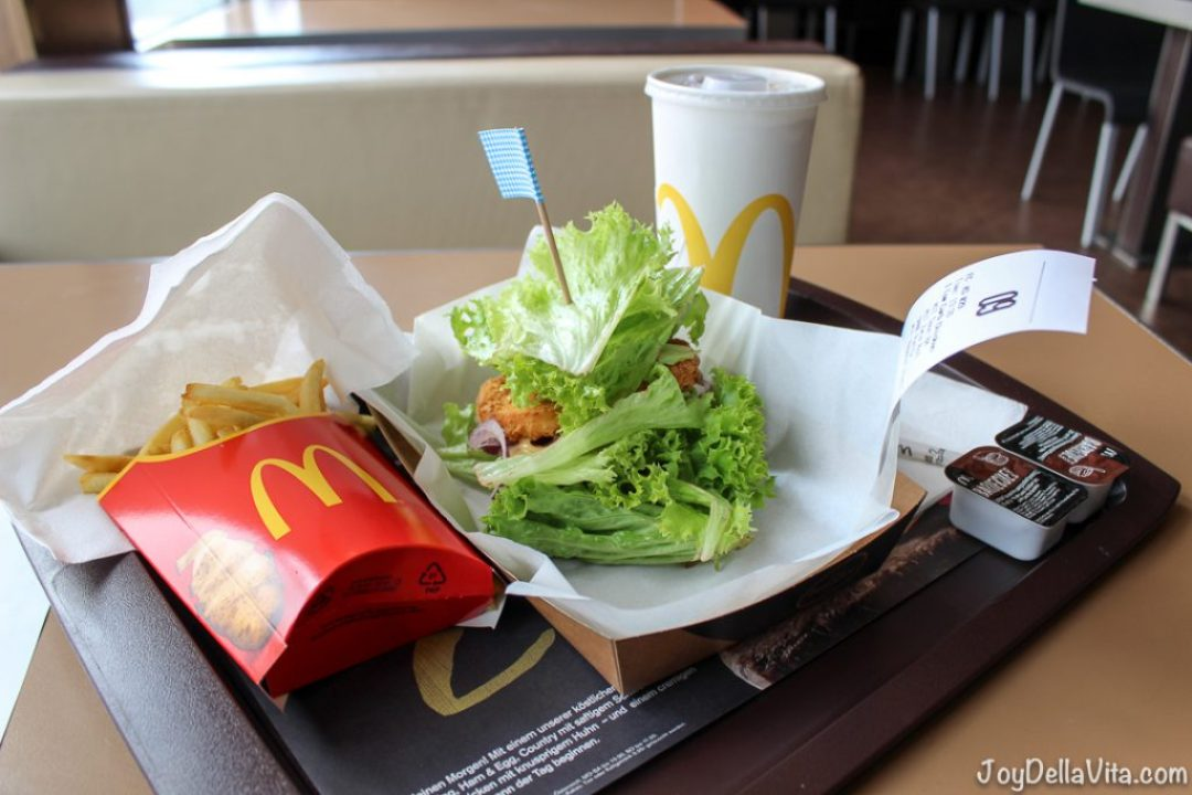 7,40€ in total for a MyBurger, large fries, large Drink and 2 Barbeque Dips