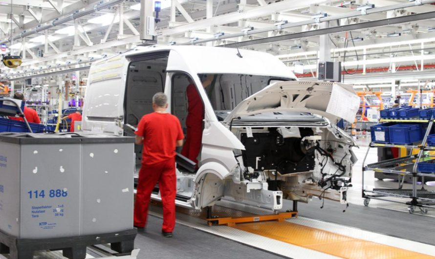 Inside the Volkswagen Crafter Factory in Września, Poland