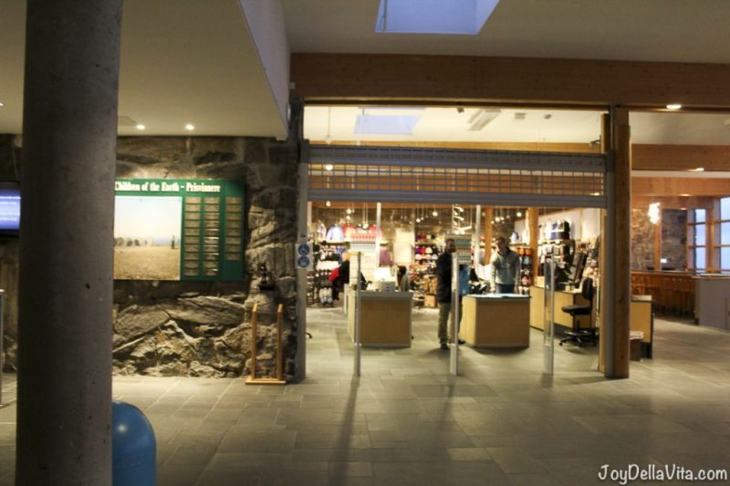 Souvenir Shop inside Nordkapphallen
