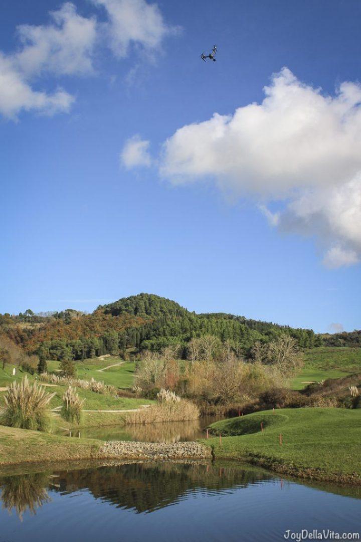 DJI Inspire above Toscana Resort Castelfalfi
