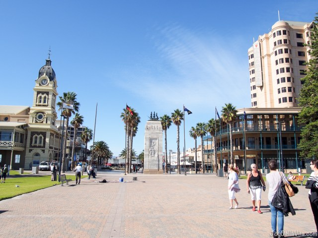 Grand Bar (right building) in Glenelg Beach Joy Della Vita
