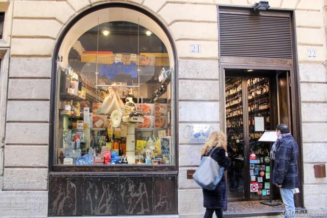 outside Roscioli Salumeria Rome Via dei Giubbonari 21 22
