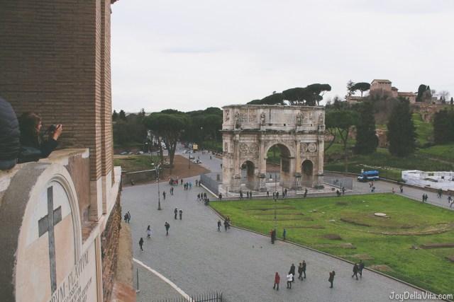 Arco di Constantino Colosseum Rome Winter Season JoyDellaVita
