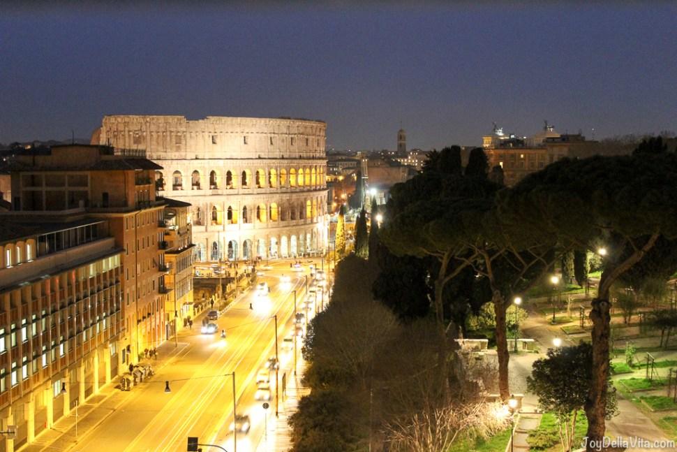 Colosseum at Night Mercure Roma Centro Colosseo Hotel Rome JoyDellavita