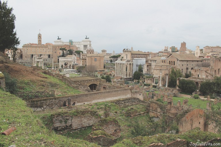 Roman Forum in Rome in the Winter Season