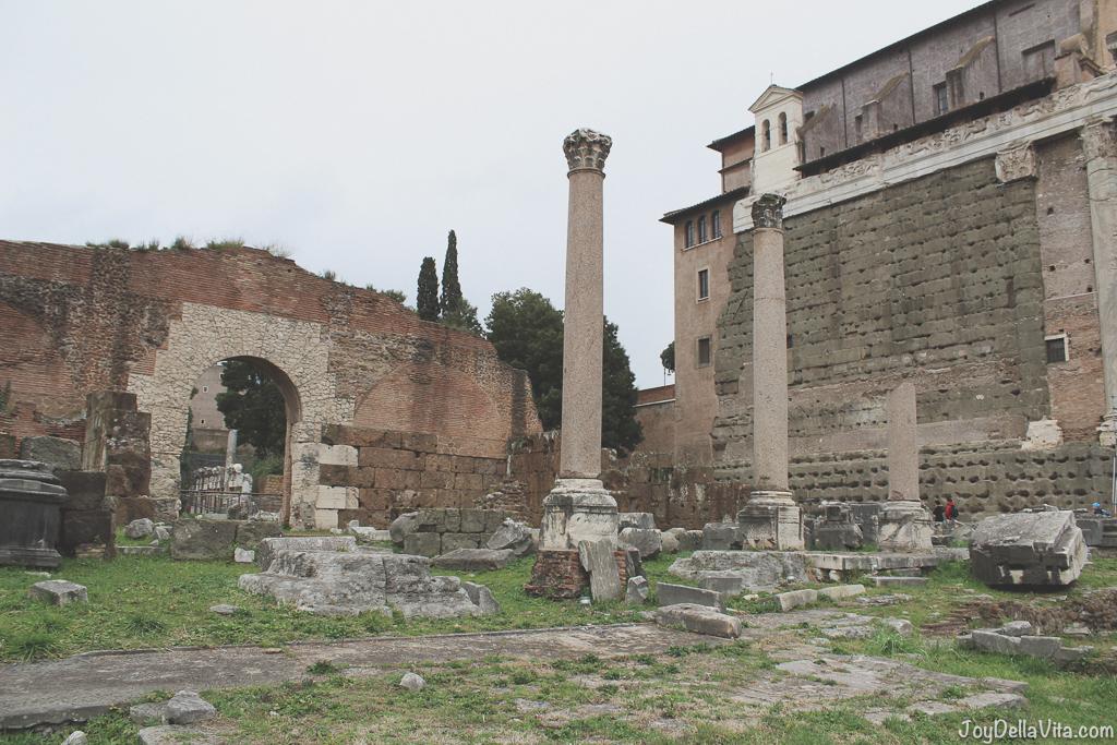 Basilica Emilia Roman Forum Rome Winter JoyDellaVita