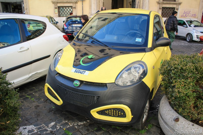 Sharengo electric carsharing in rome Vespa small Cars Rome joyDellaVita
