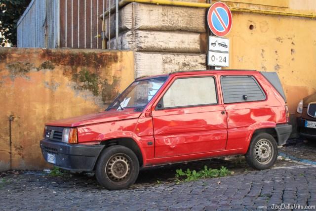 vintage Fiat Panda Vespa small Cars Rome joyDellaVita