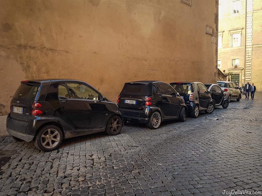 Vespa small Cars Rome joyDellaVita