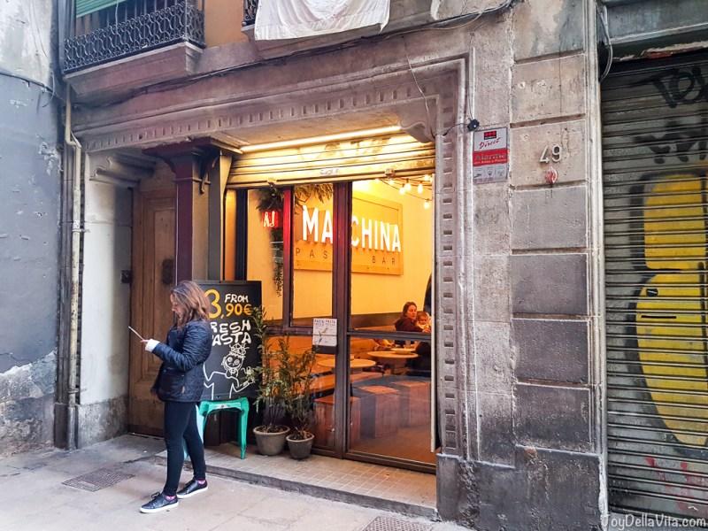 Macchina Pasta Bar Barcelona La Rambla JoyDellaVita