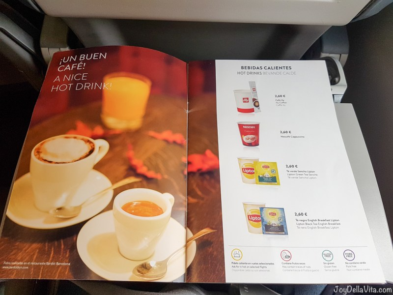 Vueling Hot Drinks JoyDellaVita