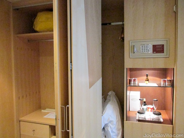 wardrobe with safe at Silken Gran Hotel Domine Bilbao Travel Blog JoyDellaVita