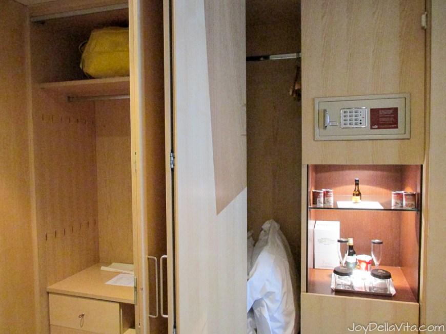 wardrobe with safe at Silken Gran Hotel Domine Bilbao Travel Blog JoyDellaVita