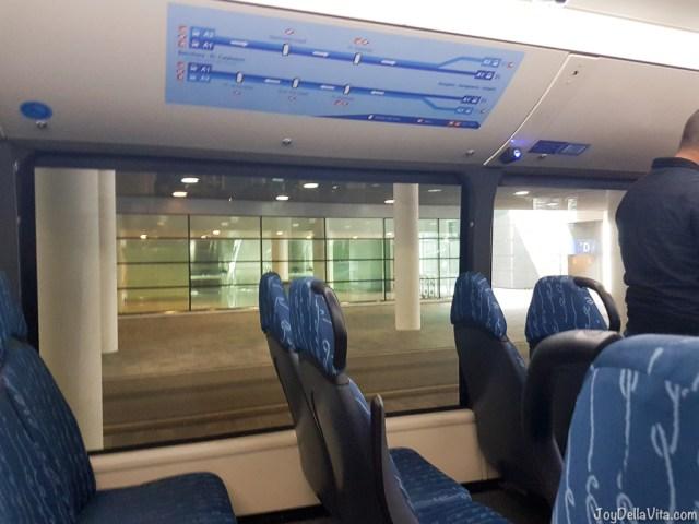 Inside Aerobus Barcelona Travelblog JoyDellaVita
