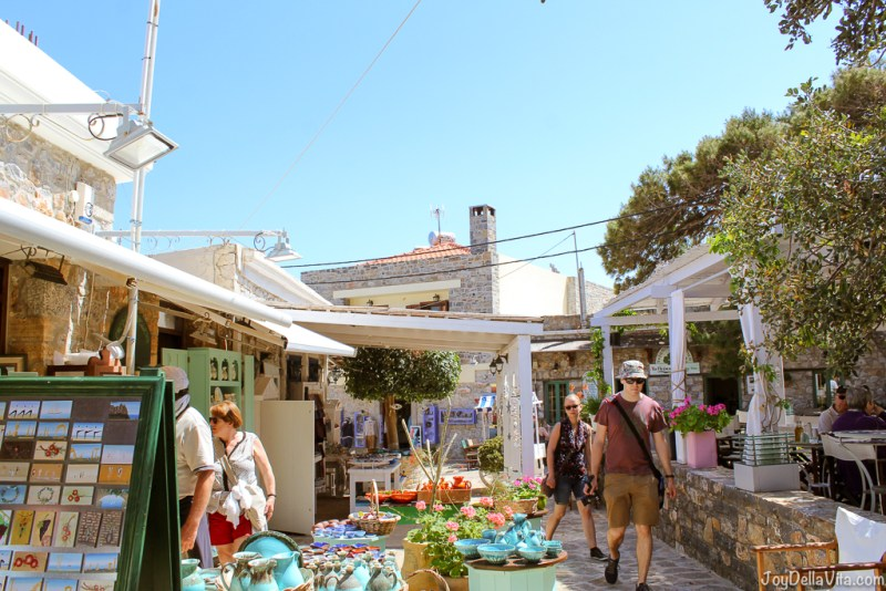 Shopping and strolling around Plaka in north-eastern Crete, with a view of  Spinalonga Island during Land Rover Experience Greece -  JoyDellaVita.com