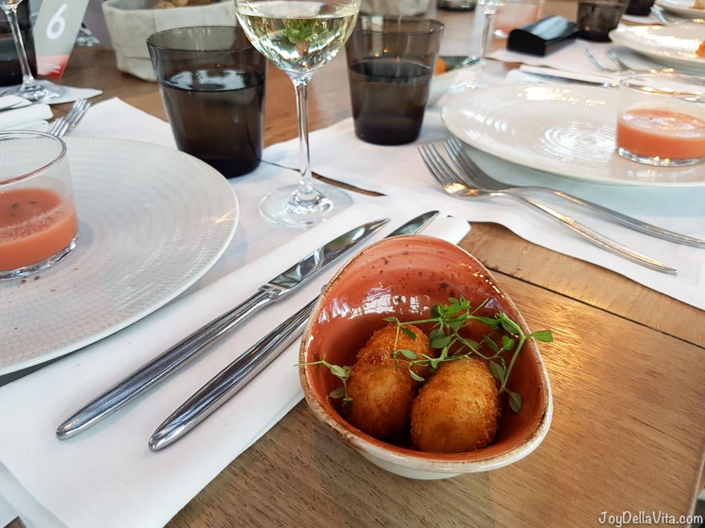 Gorgonzola cheese croquettes - Bestial Restaurant Club Barcelona Beach -  JoyDellaVita.com