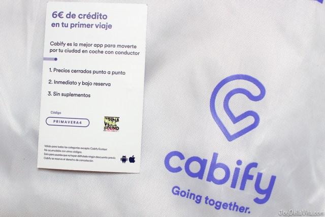 Cabify Discount Code Barcelona Primavera Sound
