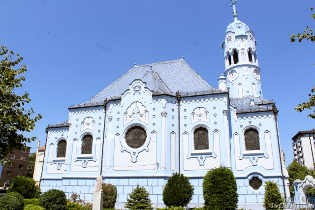 Church of St. Elisabeth / Blue Church in Bratislava -- Castle Old Town Tour by Bratislava Free Tour -  JoyDellaVita.com